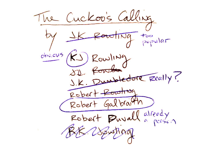 JK Rowling name notes_small